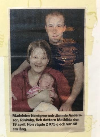Krönika av Madeleine Nilsson: Mathildas födelse
